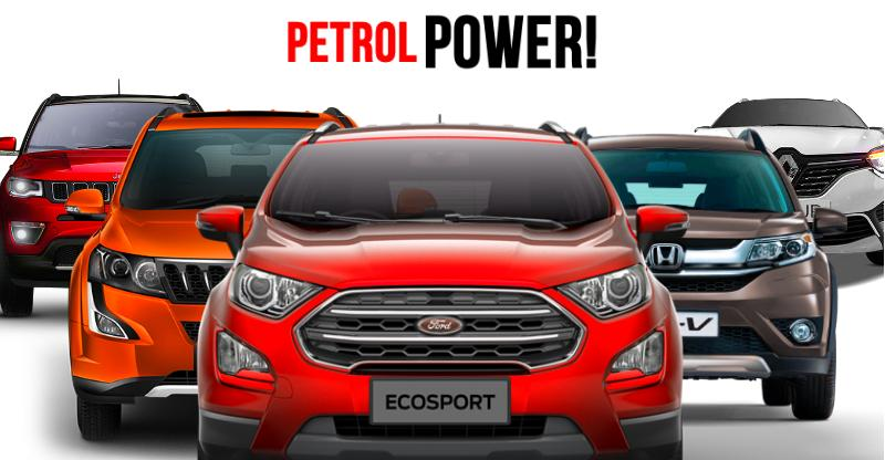 12 affordable SUVs available with petrol engines; Ford Ecosport to Jeep Compass