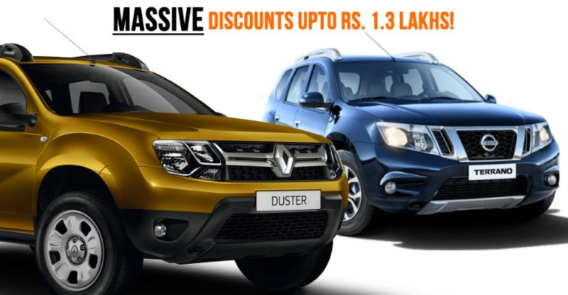 massive year end discounts on renault nissan datsun cars suvs duster terrano kwid more. Black Bedroom Furniture Sets. Home Design Ideas