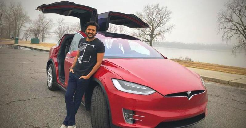 Genelia D Souza Gifts Ritesh Deshmukh A Tesla Model X Suv