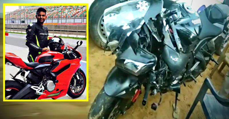 Kawasaki Ninja ZX10R rider crashes, and dies after helmet gets stuck