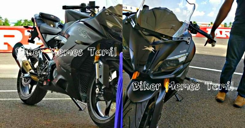 TVS Apache RR 310S sportbike images leaked
