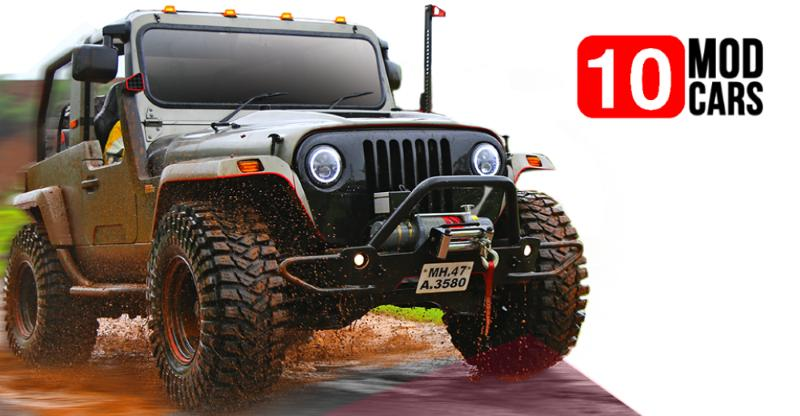 10 HOTTEST modified cars & SUVs from car makers themselves; Thar, Gypsy,Safari & more