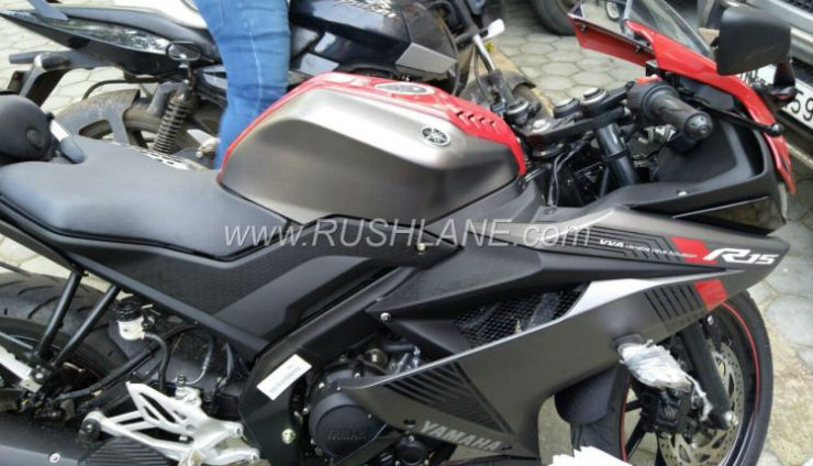Yamaha R15 Version 3.0 spotted at Indian dealership ahead of launch