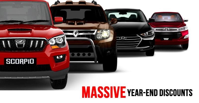 1 lakh+ year-end discounts on 12 popular cars & SUVs