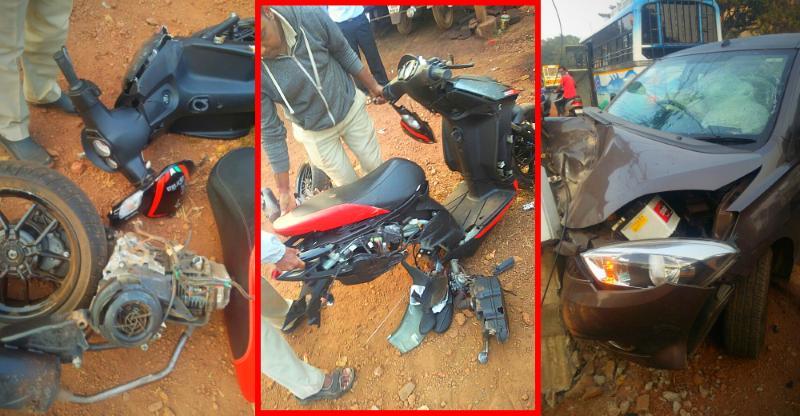 India's first Aprilia SR 150 automatic scooter crash is MASSIVE