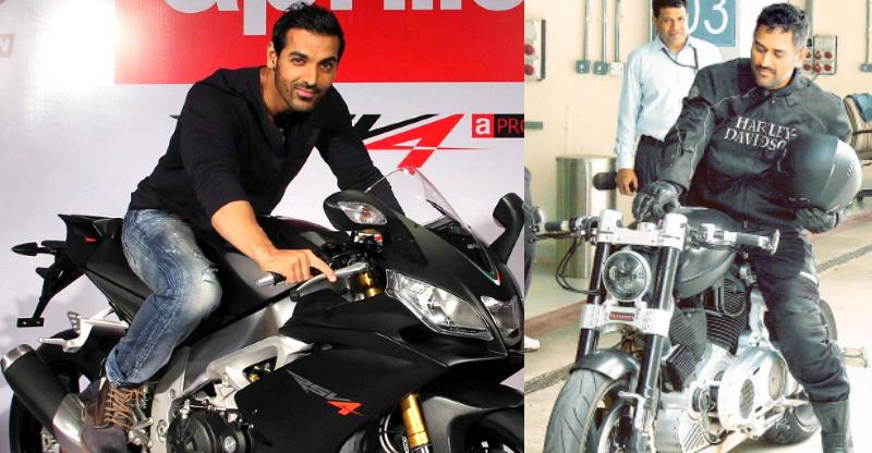 Cruisers and sportsbikes of India's rich and famous; From MS Dhoni to John Abraham
