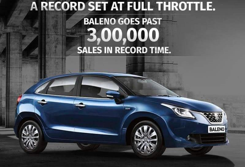 Maruti Baleno hatchback rockets pasts 3 lakh sales, breaking records in the process