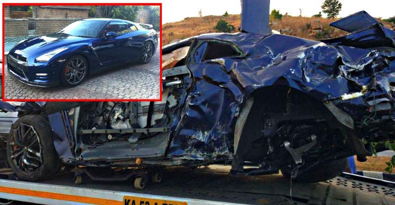 Nissan gtr crash