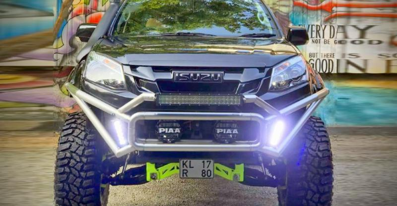 India's meanest Isuzu V-Cross gets modified further to become a bigger BEAST