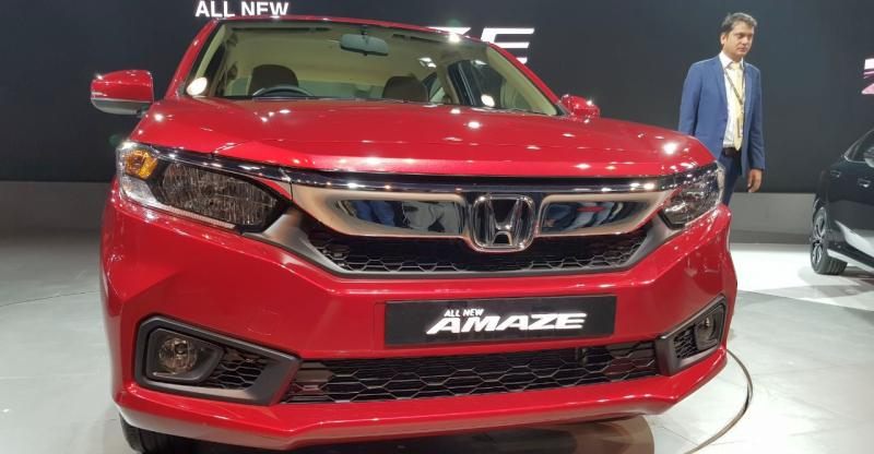 All-new 2018 Honda Amaze unveiled at the Auto expo; To take on Maruti Dzire