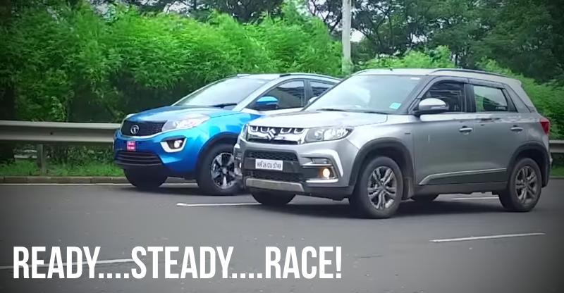 [Video] Maruti Vitara Brezza vs Tata Nexon compact SUVs in a drag race