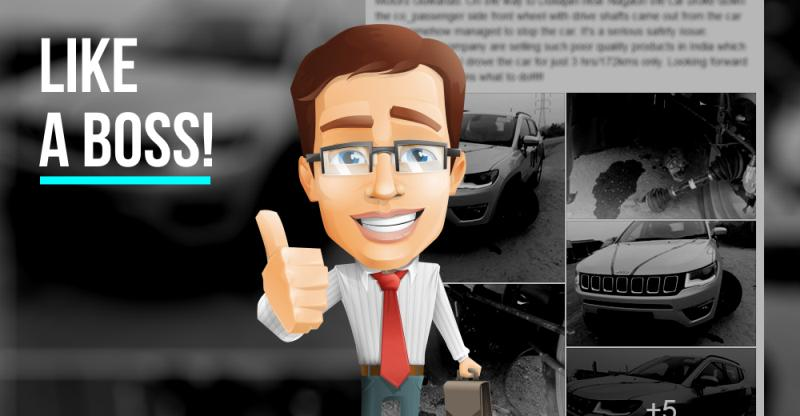 Like a BOSS! Jeep India to exchange customer's Compass SUV that suffered suspension failure