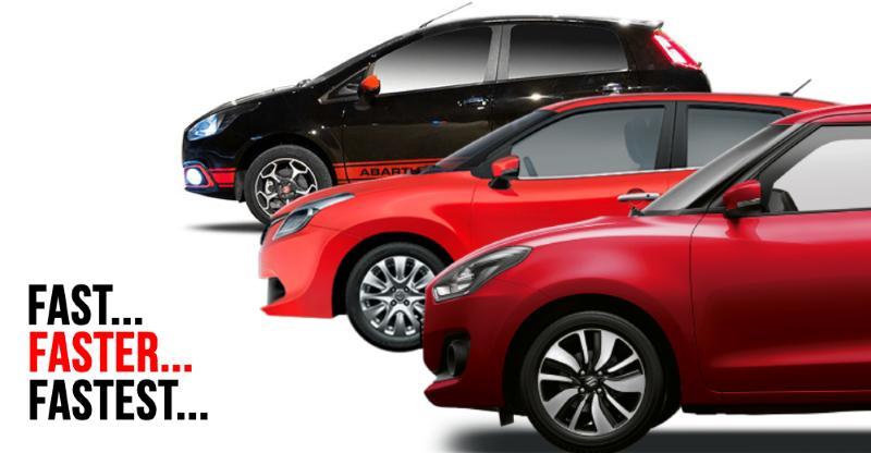 Fastest accelerating petrol hatchback cars: Maruti Swift to Fiat Punto Abarth