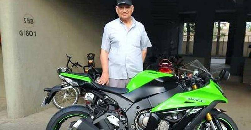 76 year-old Kawasaki Ninja ZX-10R superbike rider dies after crashing on new, unmarked speed breaker