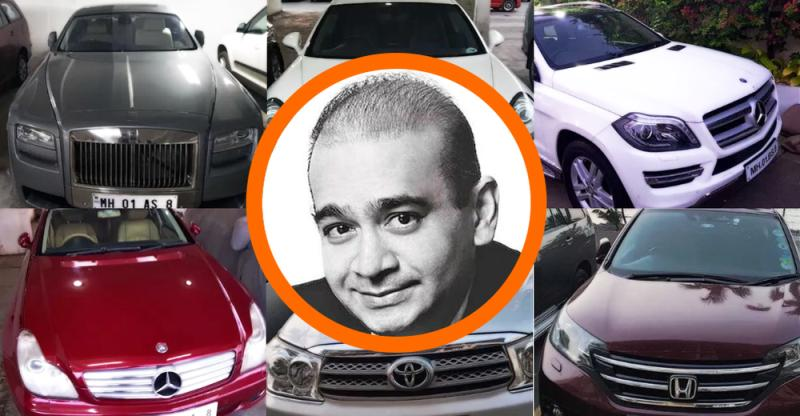 Nirav Modi cars worth over 10 crores SEIZED; Rolls Royce Phantom to Toyota Fortuner