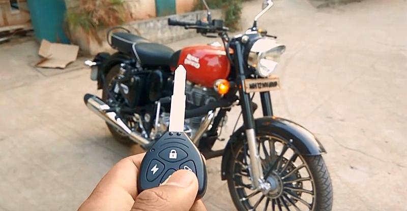 [VIDEO] Royal Enfield Classic Redditch Red with 'remote-starting' security system is MEGA cool