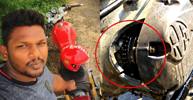 Royal Enfield Continental GT535 motorcycle rider STUNNED after 'Hole in Engine'