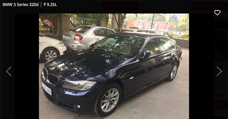 used bmw 3 series 320d below 10 lakh