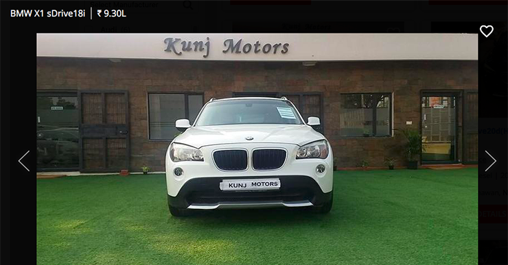 used bmw x1 sdrive 18i below 10 lakh