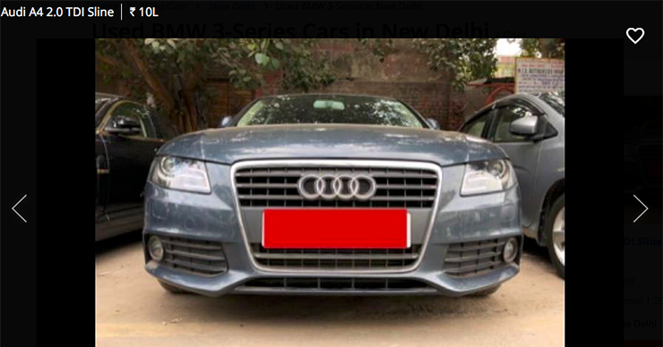 used Audi A4 2.0 tdi sline below 10 lakh