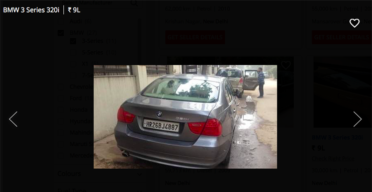 used bmw 3 series 320i below 10 lakh
