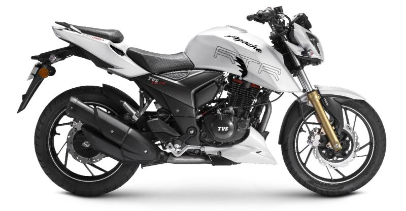 TVS Apache RTR 200; The sporty motorcycle finally gets ABS