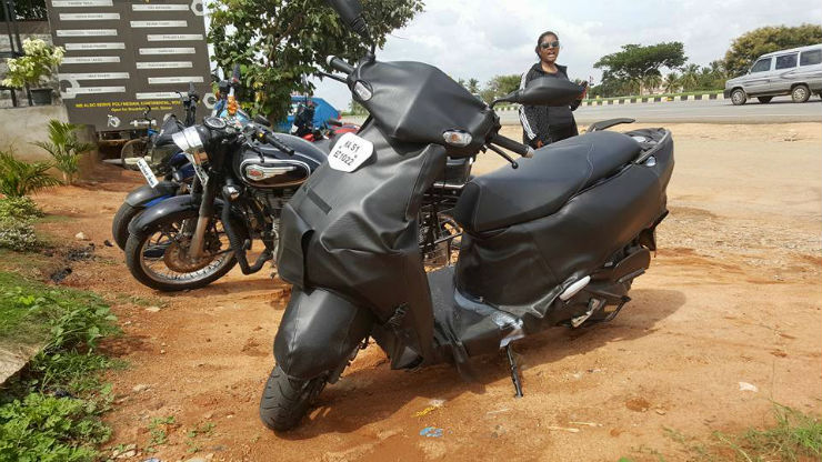 TVS NTorq (Graphite) spied ahead of the launch; To rival Honda Grazia automatic scooter