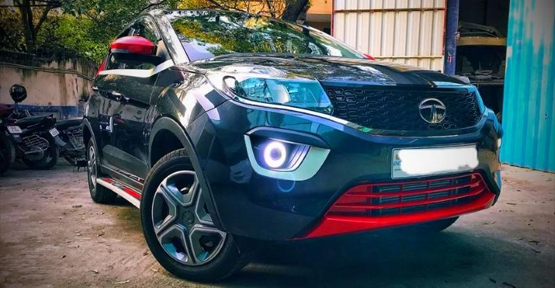 How Much Is A Car Paint Job >> Modified Tata Nexon compact SUV - India's first customised Tata Nexon photos