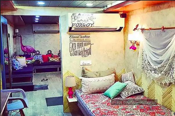 alia bhatt vanity van interior