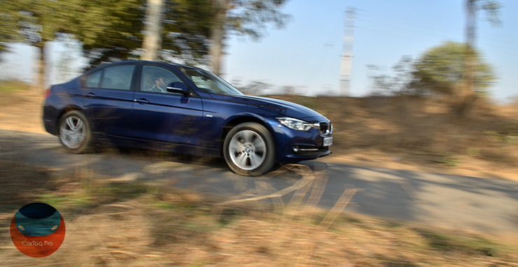 bmw 320d edition sport review images front angle action shot