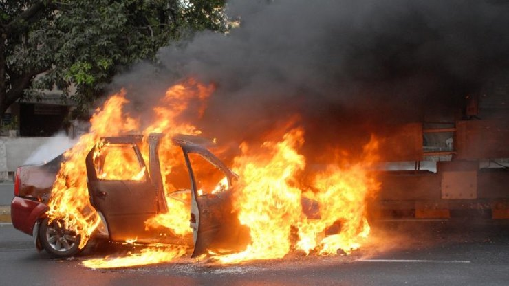 Image result for fire in car