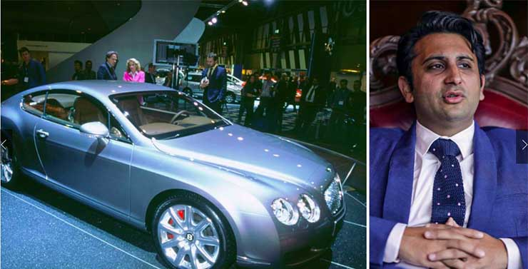 cars of rich and famous india adar poonwaala Bentley continental gt
