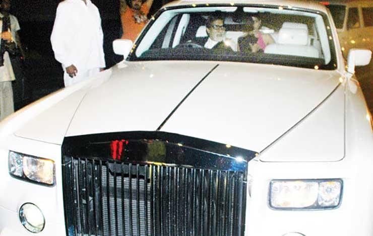 cars of rich and famous india amitabh bachchan rolls royce phantom