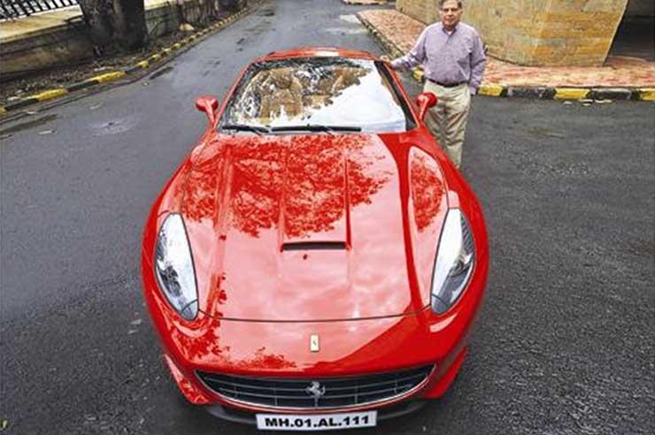 cars of rich and famous india ratan tata ferrari california
