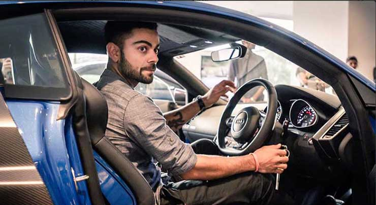 cars of rich and famous india virat kohli audi r8 lmx image