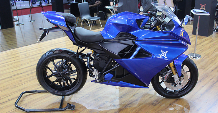 emflux one electric superbike auto expo 2018 images