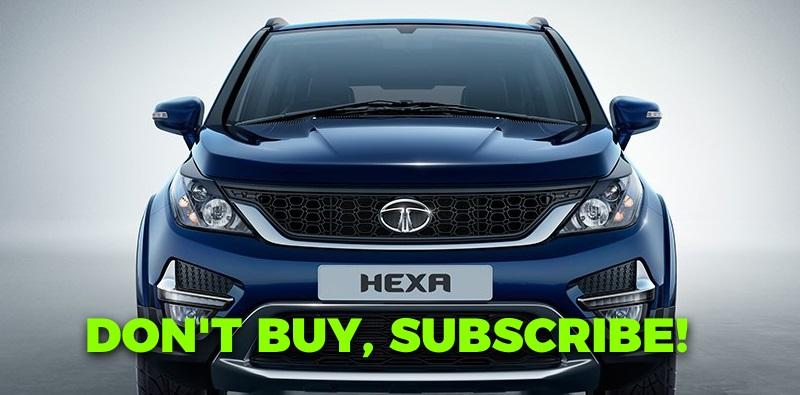 Subscribe to a Hyundai i20 Elite or Tata Hexa (and more) through Zoomcar Zap Subscribe!