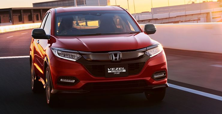 honda hr-v india launch images-front angle red action image
