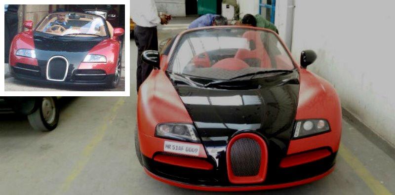 Bugatti Veyron replicas built on top of regular cars like Tata Nano and Honda City!