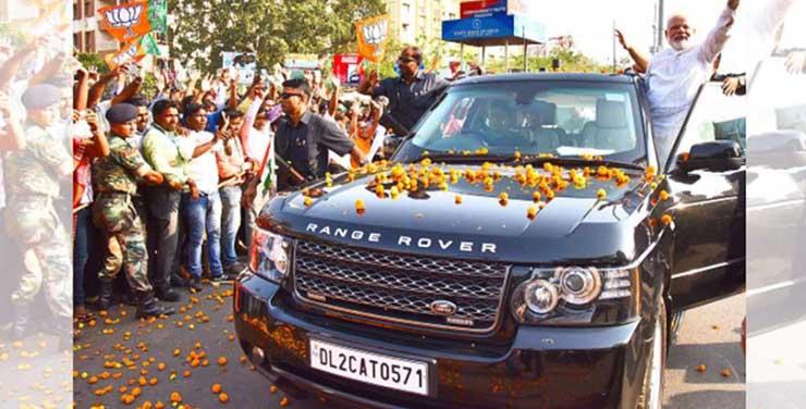 narendra modi land rover images