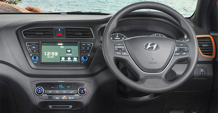 new 2018 hyundai i20 images interior infotainment touchscreen