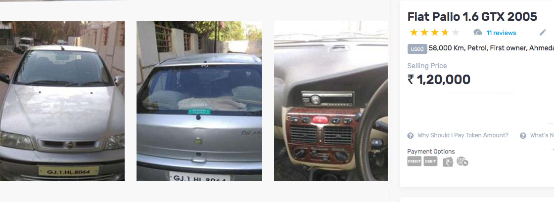 used fiat palio 1.6 under rs 2 lakh