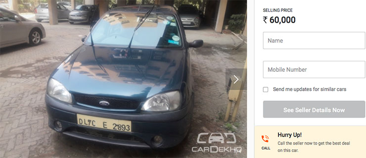 used ford ikon 1.6 under rs 2 lakh