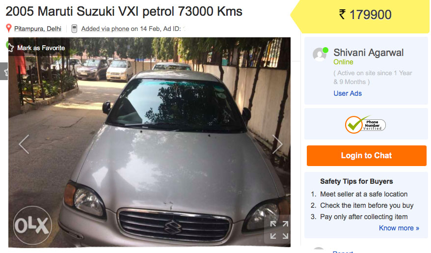 used maruti baleno under rs 2 lakh