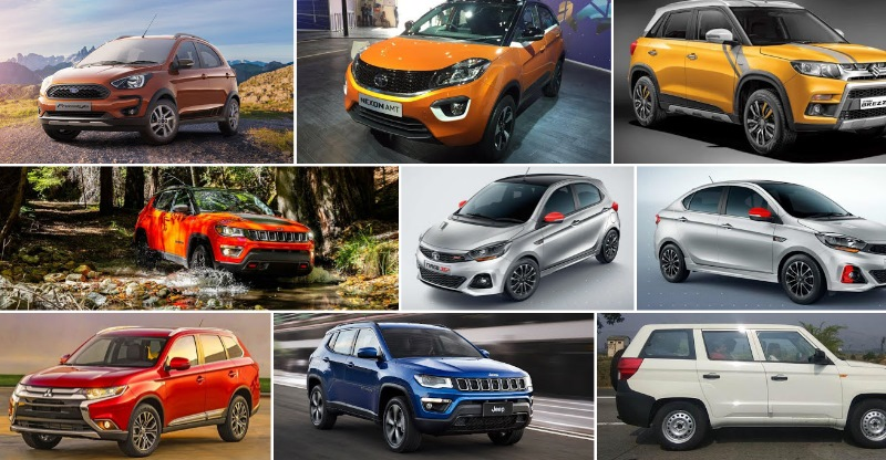 10 cars launching in 2 months! From Jeep Compass AT to Tata Tiago JTP and Brezza petrol