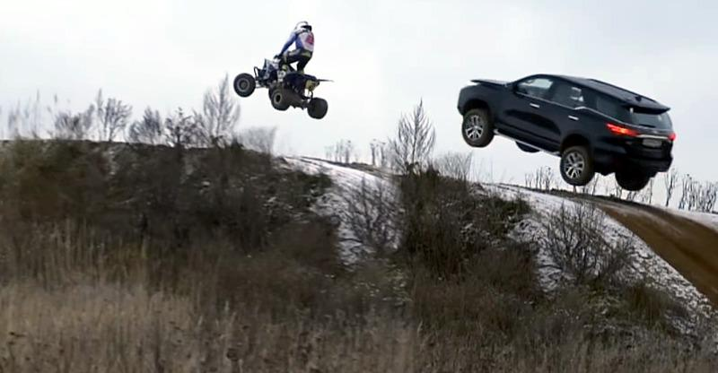 ATV teaches Toyota Fortuner SUV how to fly!