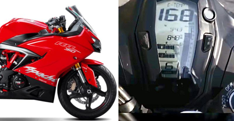 TVS Apache RR310 top speed recorded on cam! [Video]