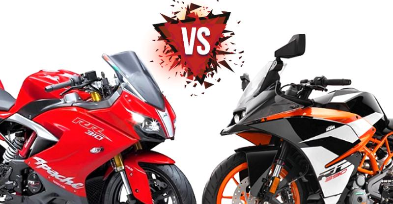 TVS Apache RR 310 vs KTM RC 390 high-performance motorcycles: Who should buy what?