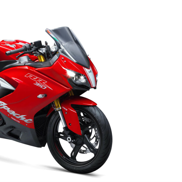TVS Apache RR310 sportsbike sales fall to less than half the