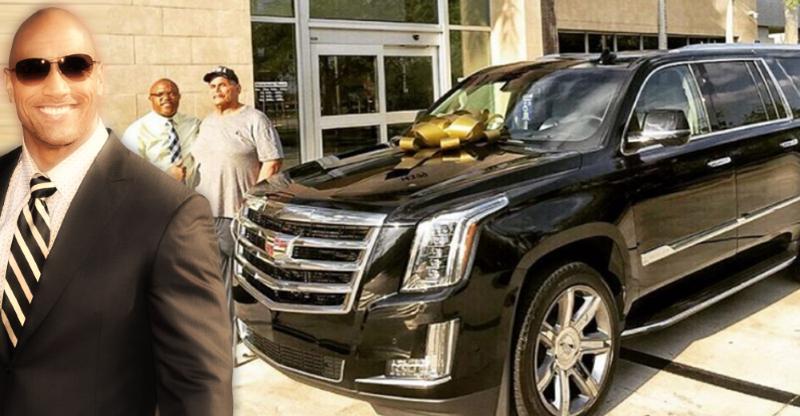 Dwayne Johnson 'The Rock' gifts his dad a Cadillac Escalade SUV